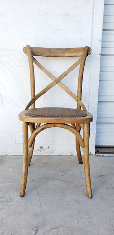 Wood Cross Back Dining Chair