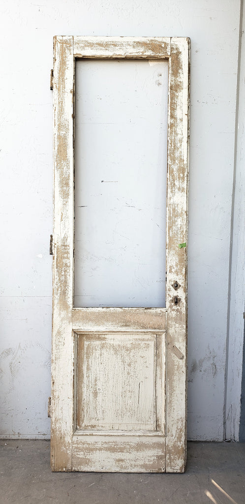 Single Wooden Door with One Large Pane (No Glass)