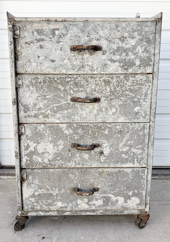 French Metal Chest of Drawers
