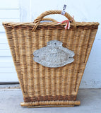 Square French Basket with Plaque