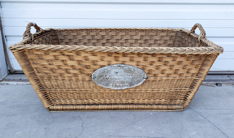 Rectangular French Basket with Plaque