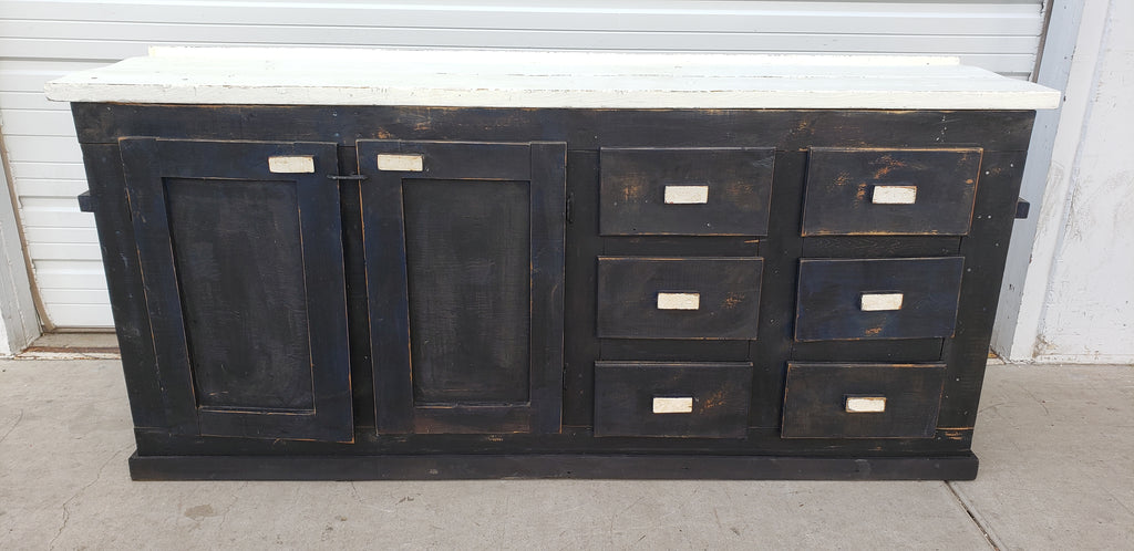Black and White Wooden Work Cabinet