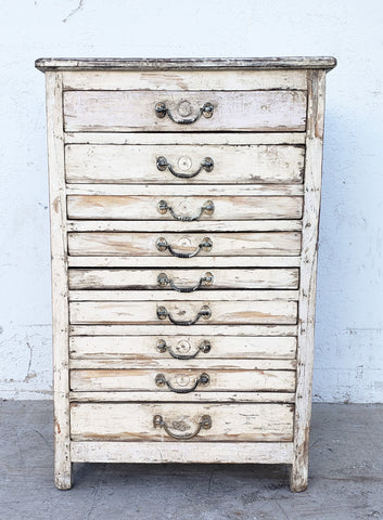 9 Drawer Antique White Dresser