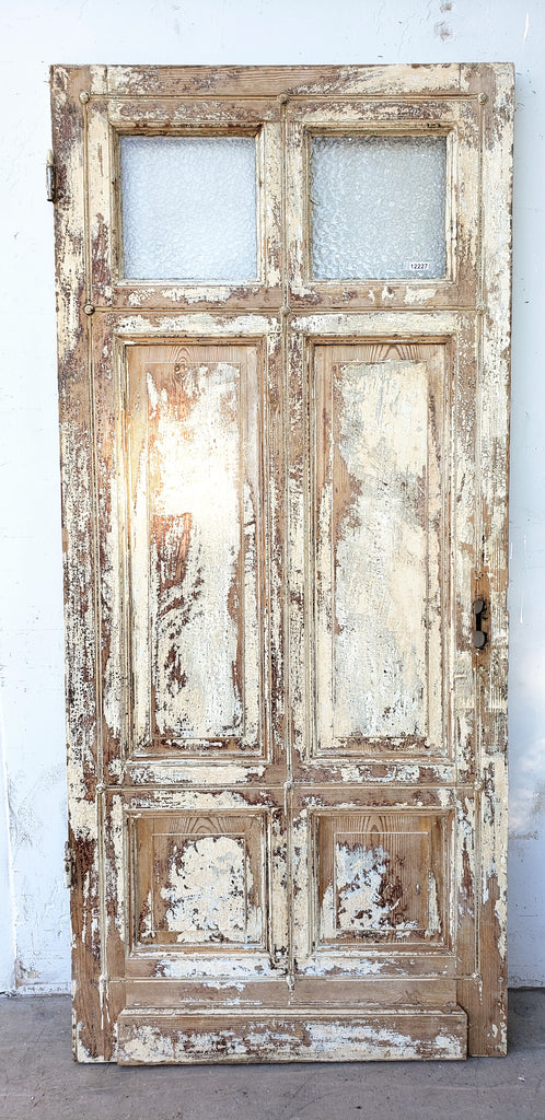 4 Panel 2 Lite Distressed Single Door