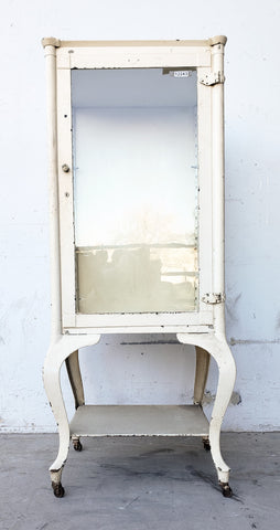 White Painted Medical Cabinet / Display Case