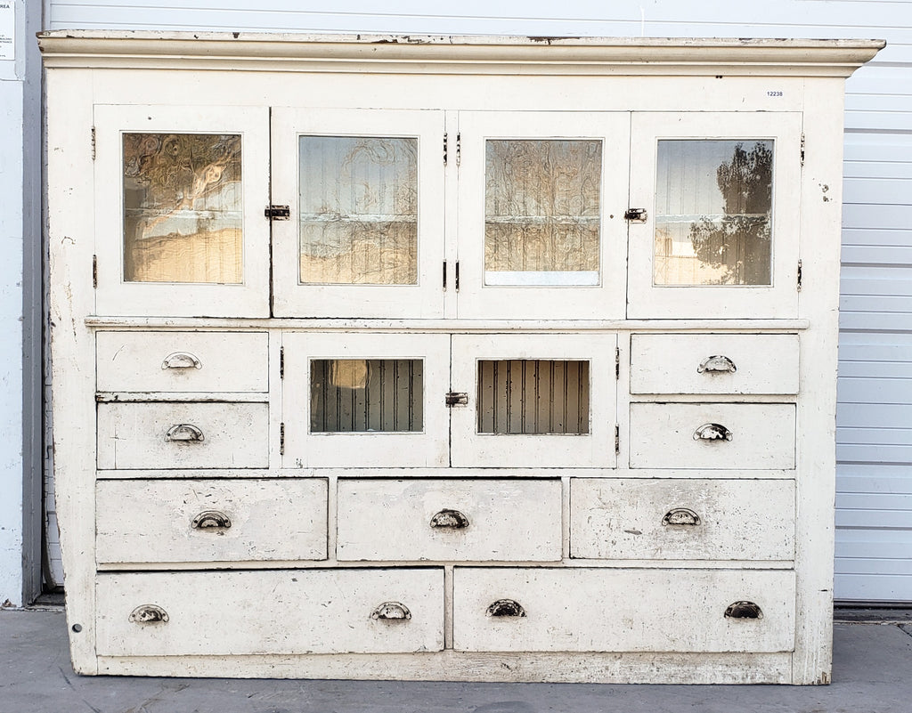 White Painted Primitive Cabinet