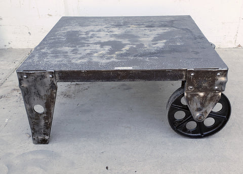 Industrial Steel Coffee Table Trolley