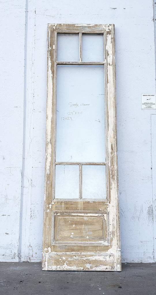 Large Single French Door with 5 Glass Panes