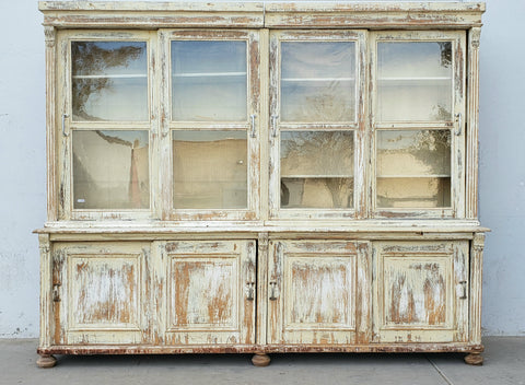 Antique White French Cabinet c. 1881