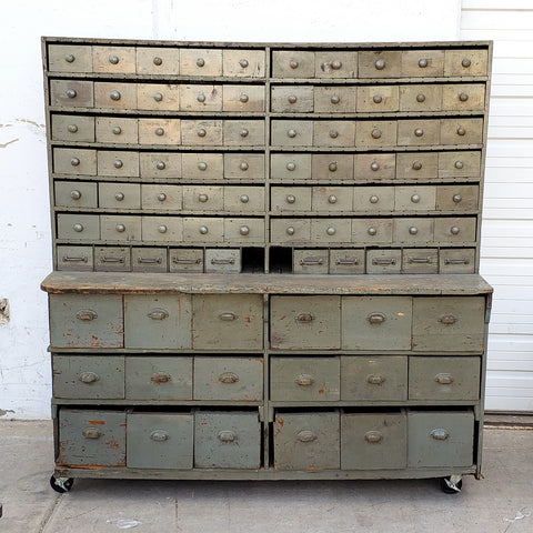 Painted Grey Wood Multi Drawer Cabinet