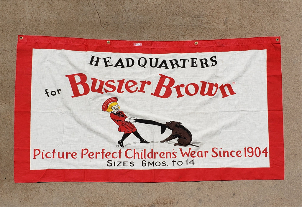 Buster Brown Children's Shoe Banner/Sign