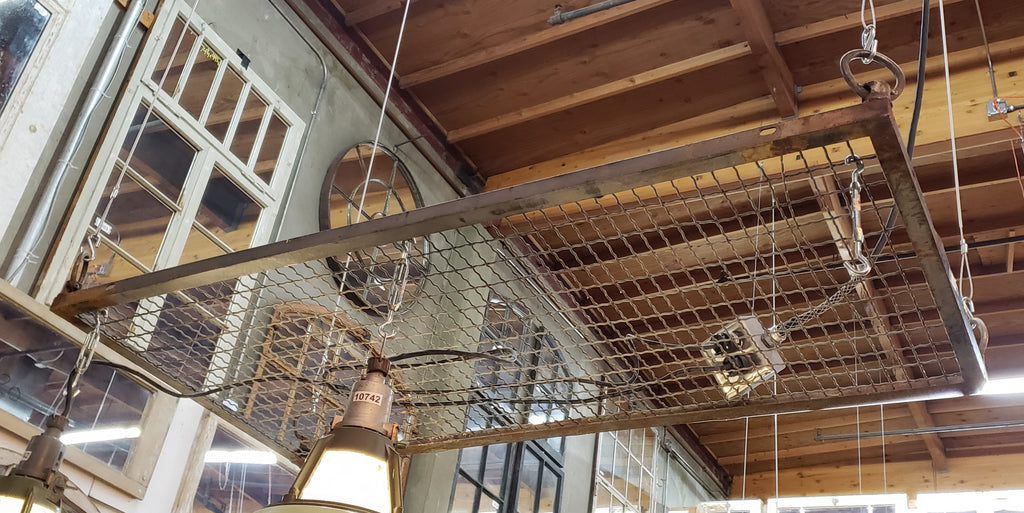 Industrial Grate Hanging Pot Rack