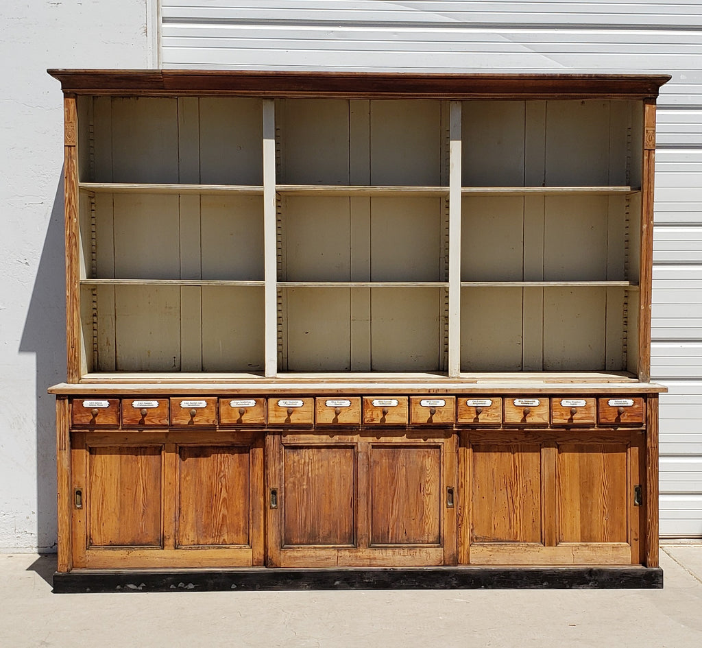 12 Drawer German Apothecary Store Cabinet