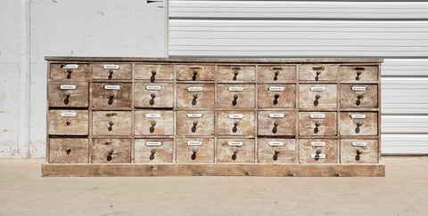 Double Sided German Apothecary Cabinet Store Counter