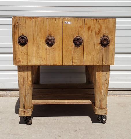 Rolling Butcher Block Kitchen Island