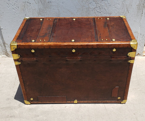 English Leather Trunk