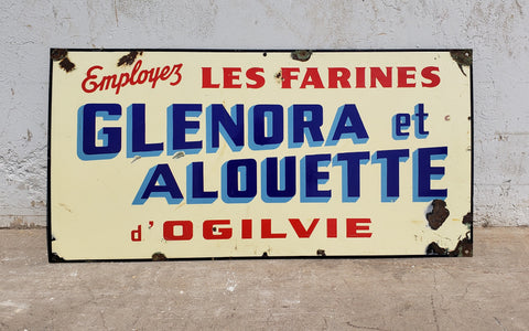 "French Enamel Sign ""Use Ogilvie Flour"""