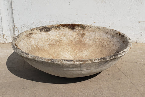 Willy Guhl Concrete Bowl Planter