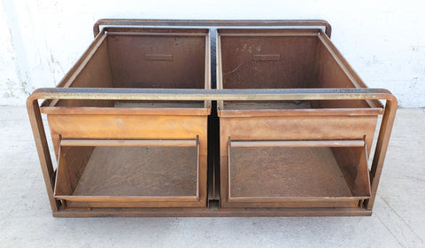 Set of 2 Steel Drawers in Frame
