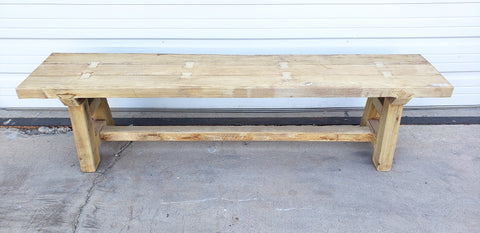 Natural Wood Bench (6 Ft)