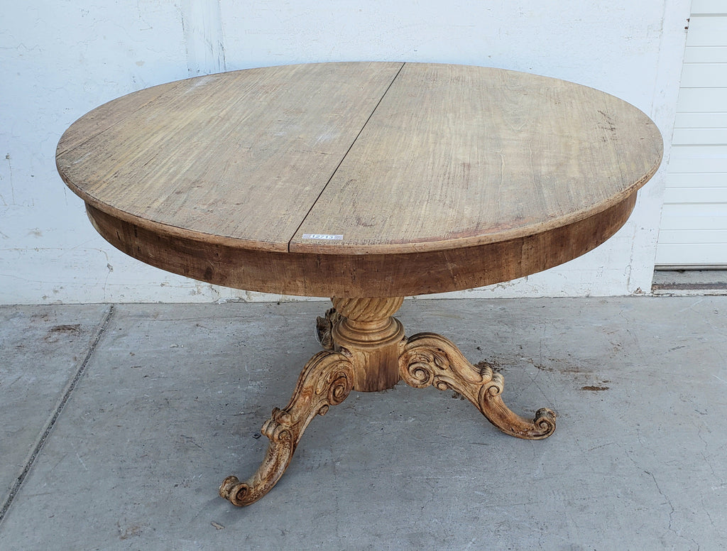 Antique Round Wood Dining Table