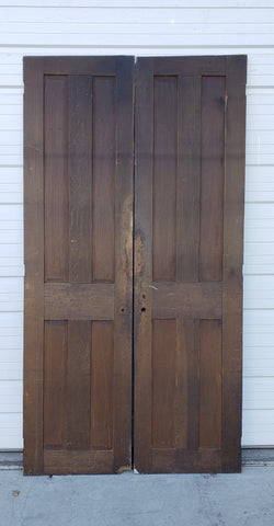 Pair of 4 Panel Solid Wood Doors
