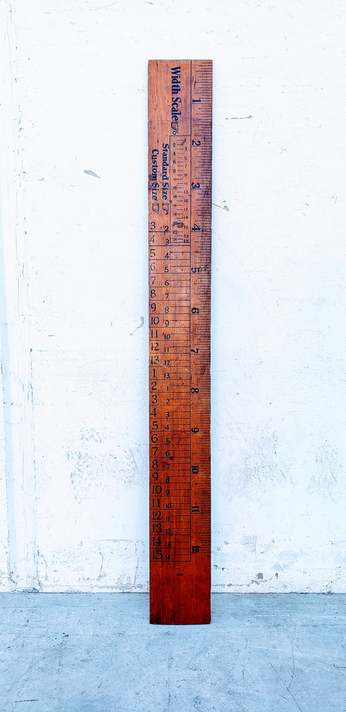 Large Wooden Shoe Store Ruler