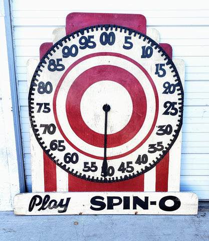 """Play SPIN-O"" Carnival Game"