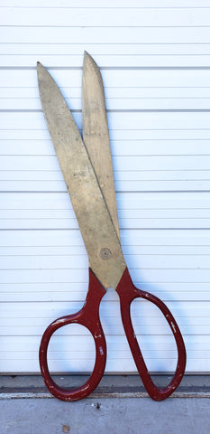 Oversized Scissors from an East Coast Fabric Store