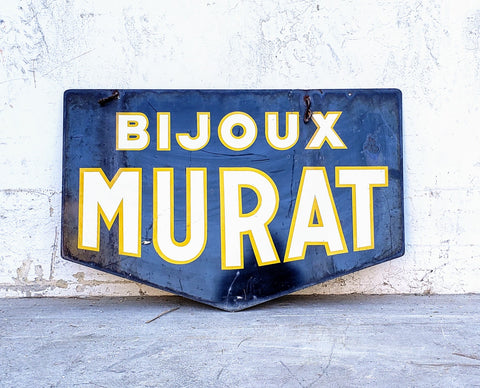 """Bijoux Murat"" Jewelry Store Sign"
