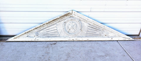 Chippy White Wood Architectural Pediment