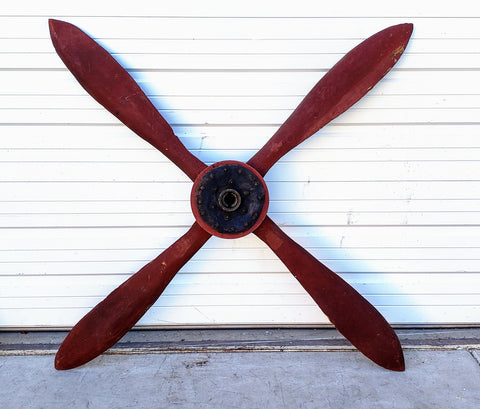 Red Airplane Propeller