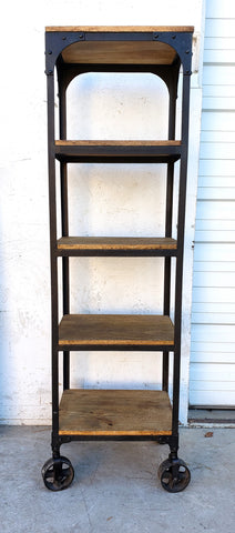 Rolling Shelving Unit with 5 Shelves