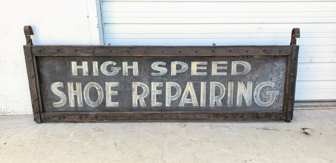 High Speed Shoe Repair Sign