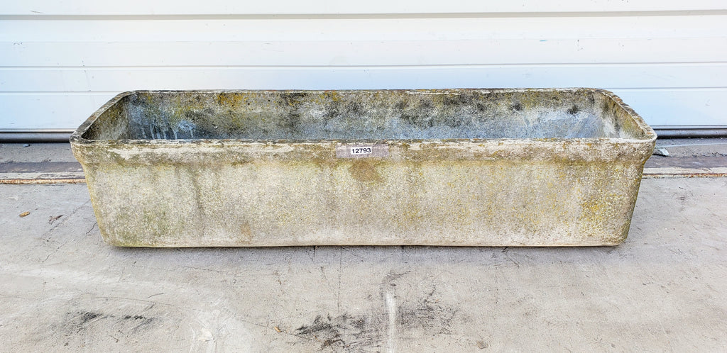 Rectangular Willy Guhl Concrete Planter
