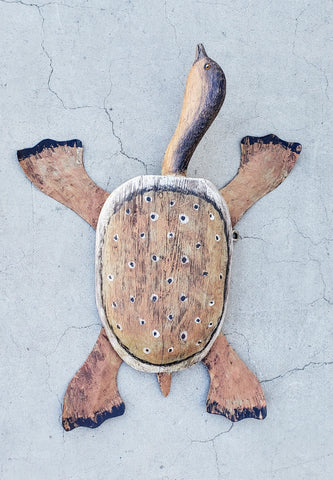 Wood Folk Art Turtle