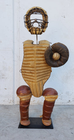Vintage Baseball Catcher's Equipment