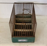 Small Green Vintage Birdcage