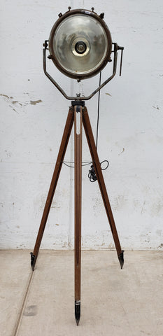 Antique Tripod Spotlight
