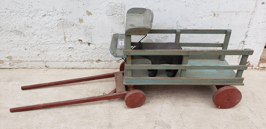 Folk Art Circus Wagon with Bear