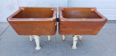 "Pair of ""Joseph Cliff & Sons"" Sinks on Stand"