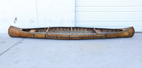 Antique Birch Bark Canoe