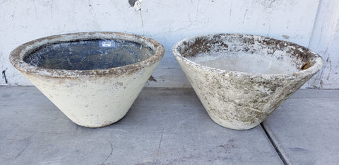 Pair of Willy Guhl Concrete Cone Planters