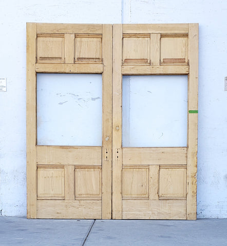 Pair of Large Antique Single Lite Doors