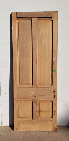 Antique 4 Panel Single Wood Door