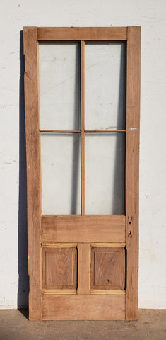 Antique 4 Lite, 2 Pane Single Door