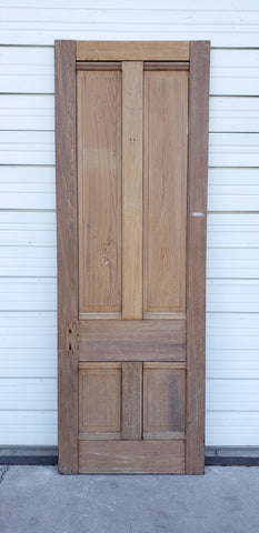 Antique 4 Panel Single Wooden Door