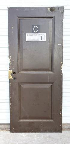 Reclaimed Metal 2 Panel Fire Door