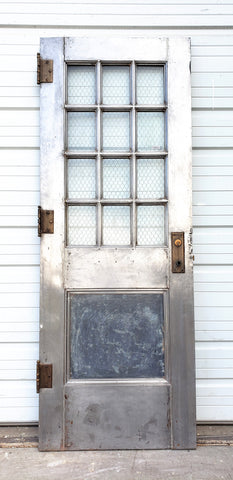 Metal Door with Chicken Wire Glass