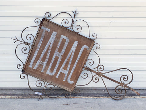 Double-Sided French Tabac Sign from Le Bosc France